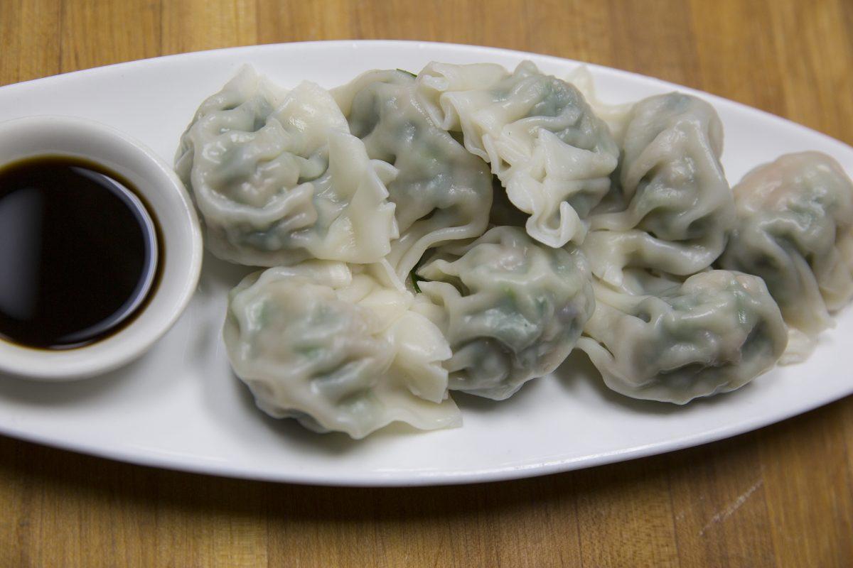 Dumplings at Nom Wah Tea Parlor.