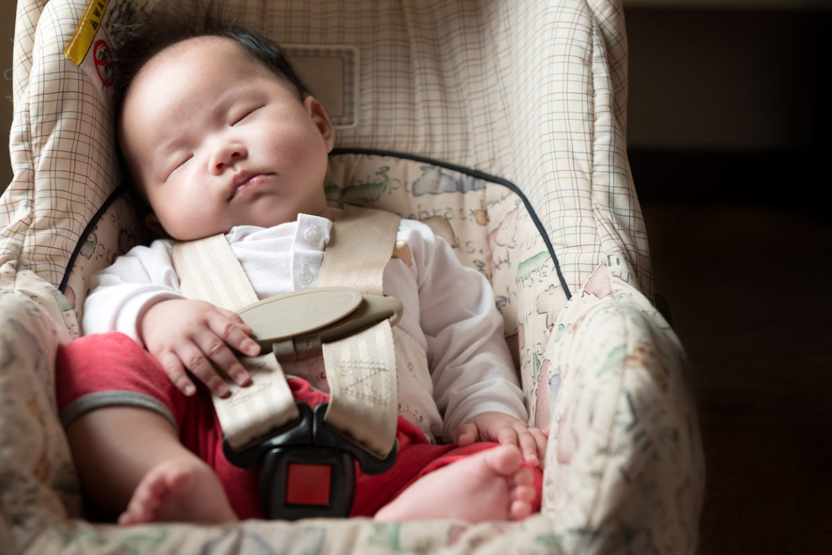 Babies travel more safely in an approved seat, whether in a car or on a plane.