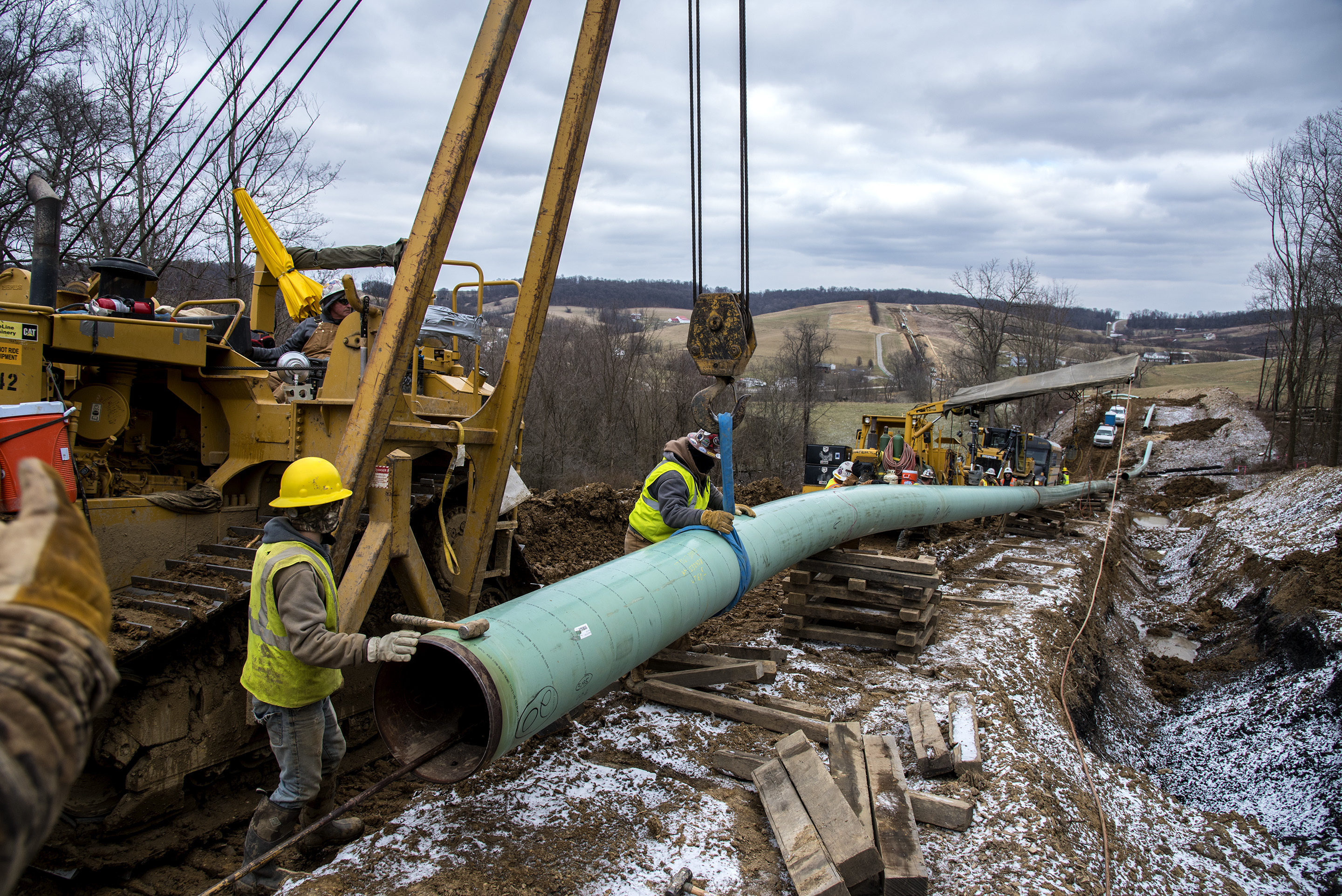 The Mariner East 2 pipeline under construction last year in Washington County, Pa.
