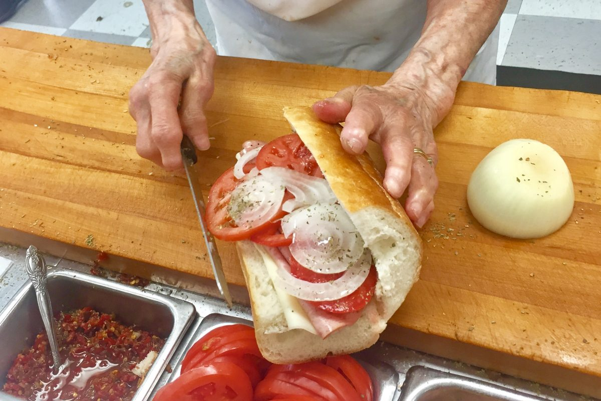A classic Zep sandwich at Eve's in Norristown made by a 50-year lunch counter veteran.