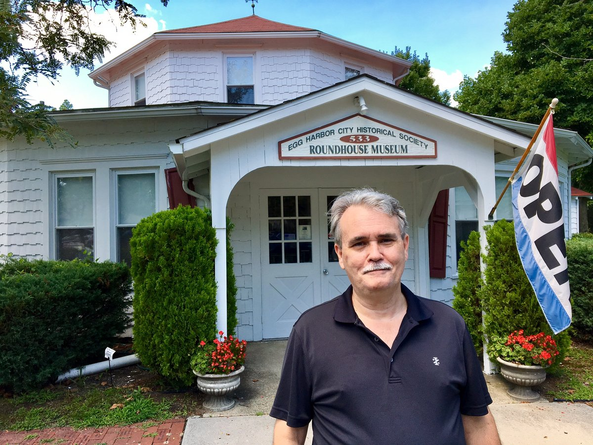 Dennis M. Niceler stands outside the headquarters of the Egg Harbor City Historical Society in 2017. He was a volunteer there for about eight years before his arrest in December.