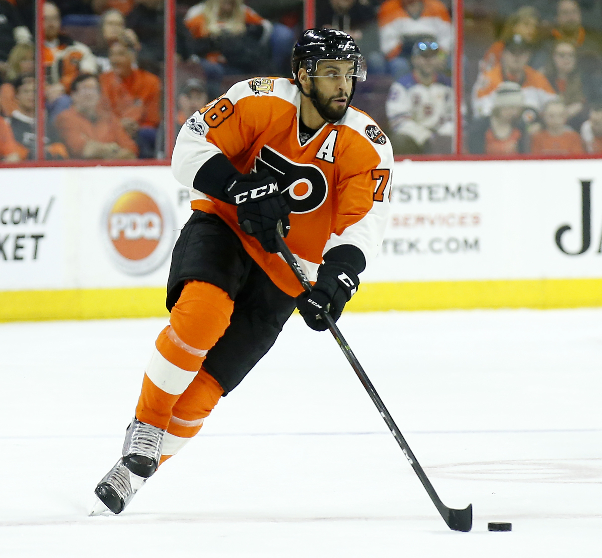 Pierre-Edouard Bellemare, who played last season with the Flyers, will meet the Flyers´ fan club during the team´s road trip.