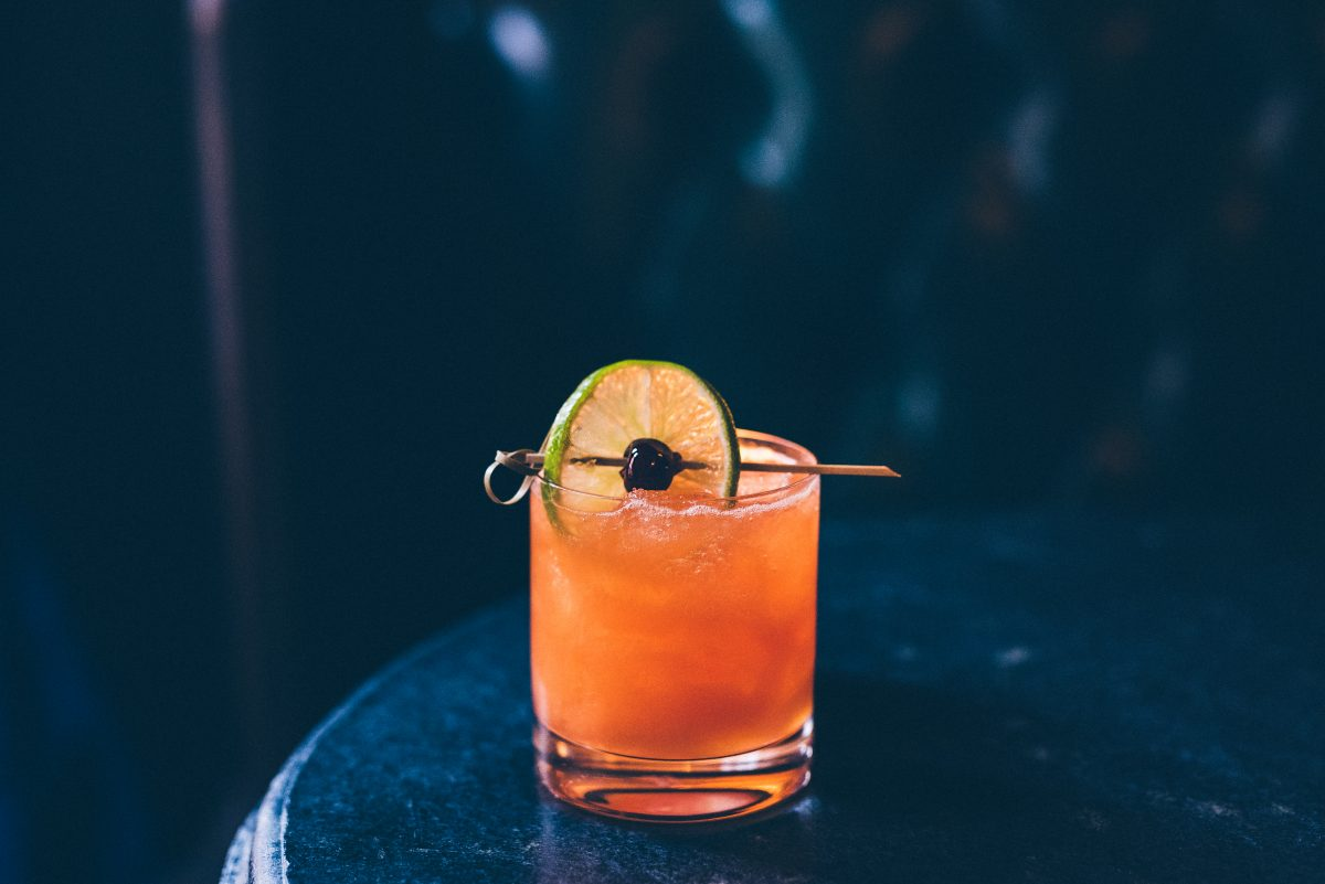 Royal Boucherie's upscale take on a Hurricane cocktail for Mardi Gras.