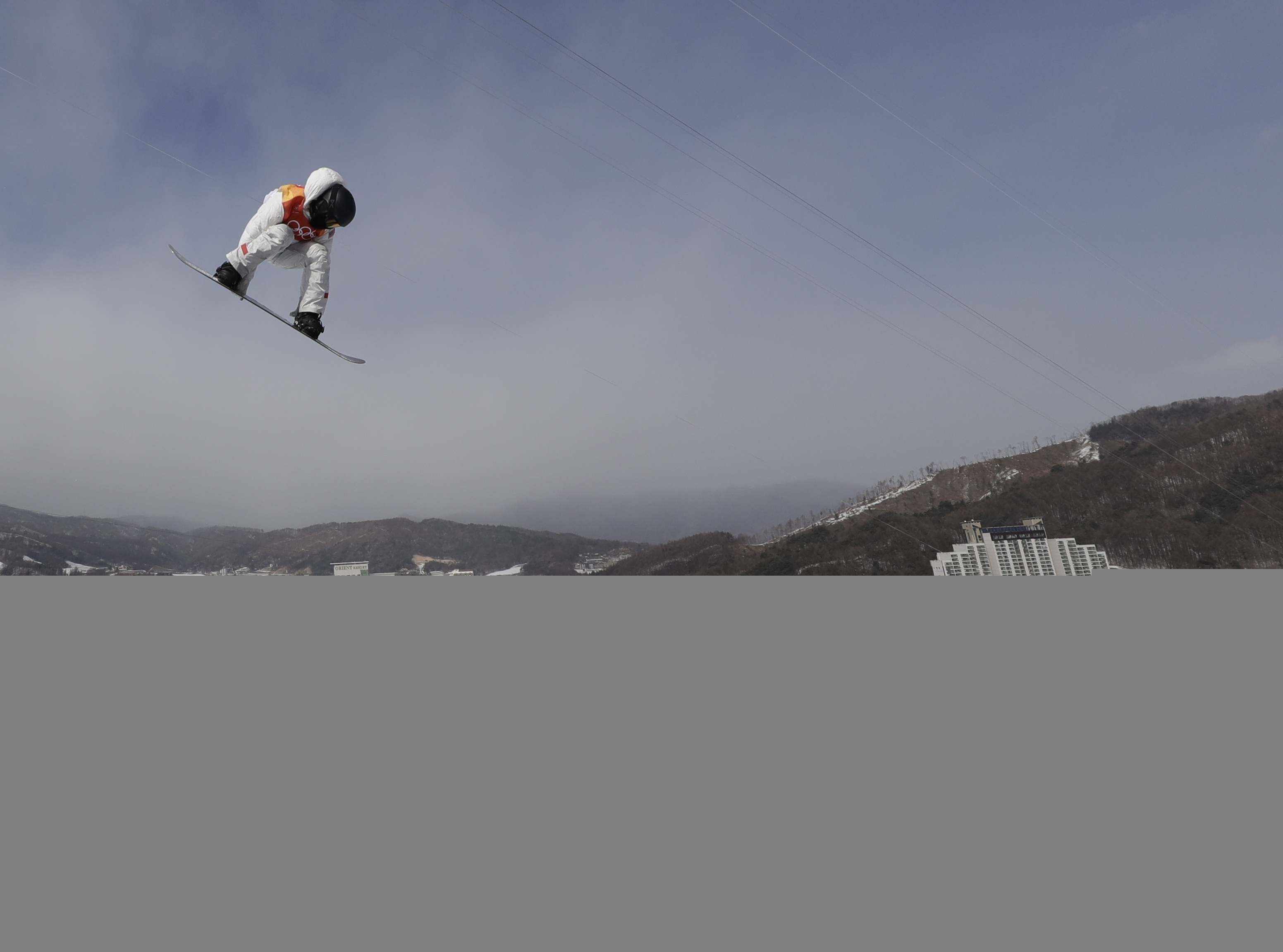 Shaun White, of the United States, during the men´s halfpipe qualifying at Phoenix Snow Park at the 2018 Winter Olympics in Pyeongchang, South Korea, Tuesday, Feb. 13, 2018.