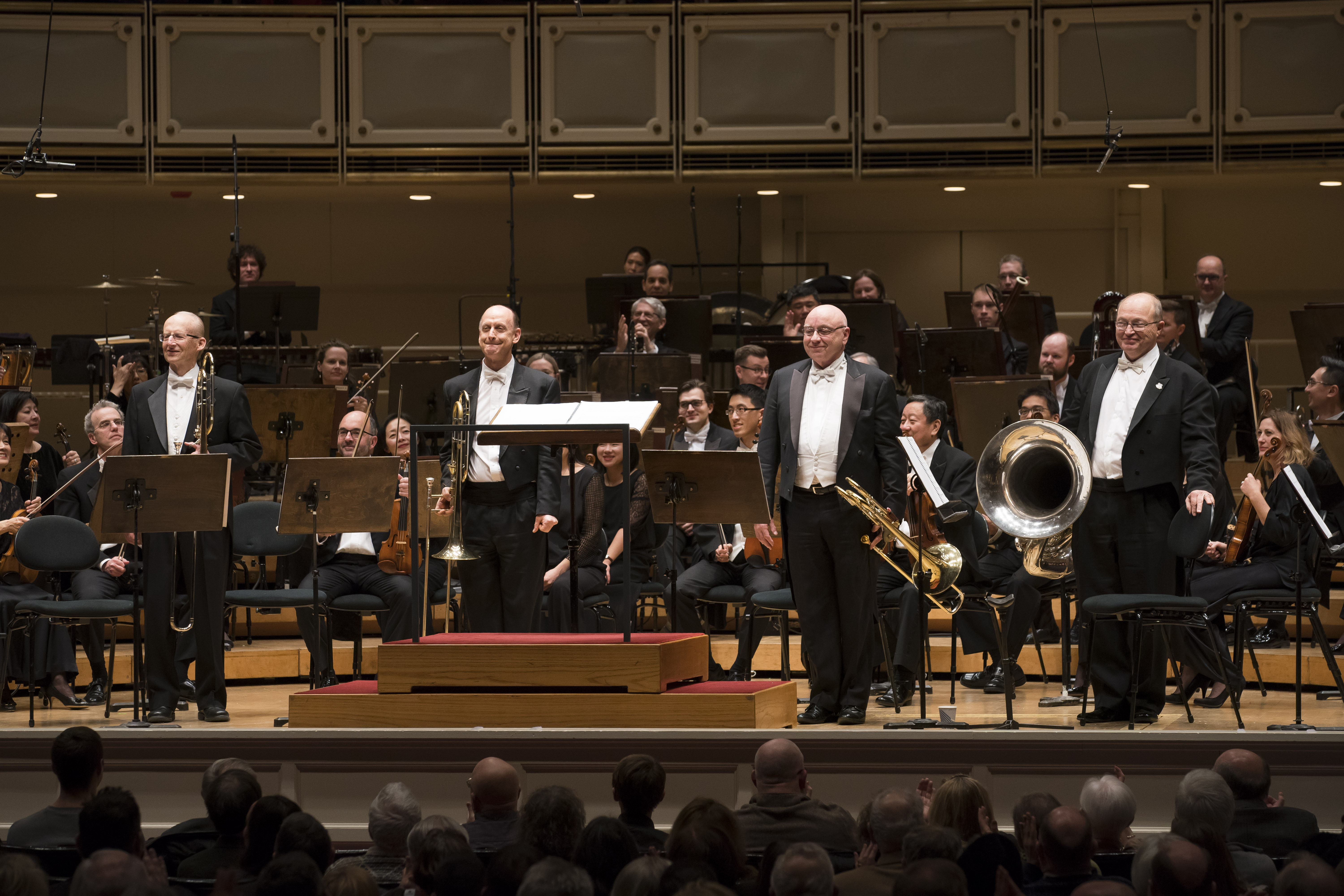The Chicago Symphony Orchestra world premiere of Jennifer Higdon´s ´Low Brass Concerto´ featured Jay Friedman (trombone), Michael Mulcahy (trombone), Charles Vernon (bass trombone) and Gene Pokorny (tuba).