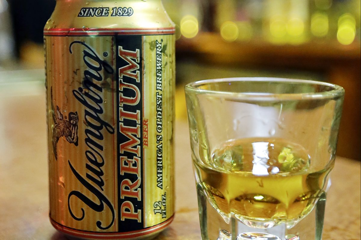 The Ray's Special (a shot of whiskey and a can of Yuengling beer) at Ray's Happy Birthday Bar. Now, Yuengling wants to make its own beer special … Philly Special.