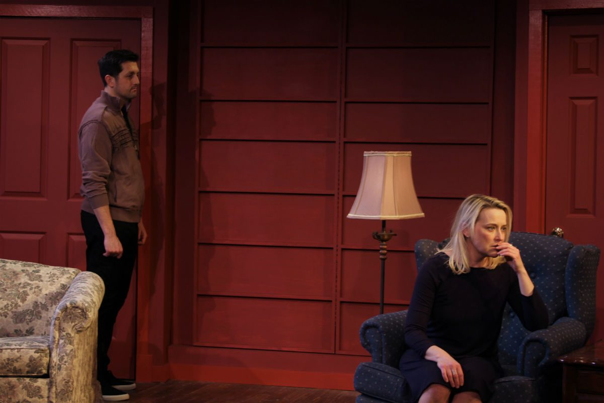 "Rick Cekovsky and Deborah Lynn Meier in ""Sex With Strangers,"" through Feb. 25 at the Montgomery Theatre in Souderton."