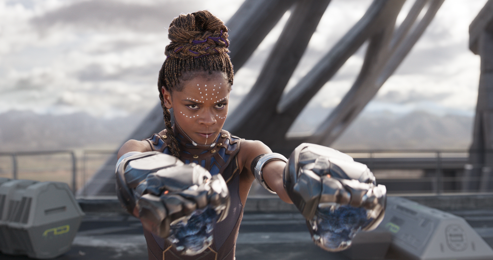 Letitia Wright, who plays Shuri, Wakanda´s top scientist and inventor in a scene from Black Panther. .