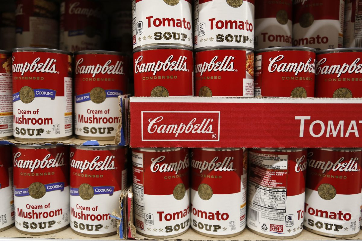 Campbell Soup Co. on Friday reported disappointing financial results for the three months ended Jan. 29. ?Shown is a display at a supermarket in Englewood, N.J., in May.