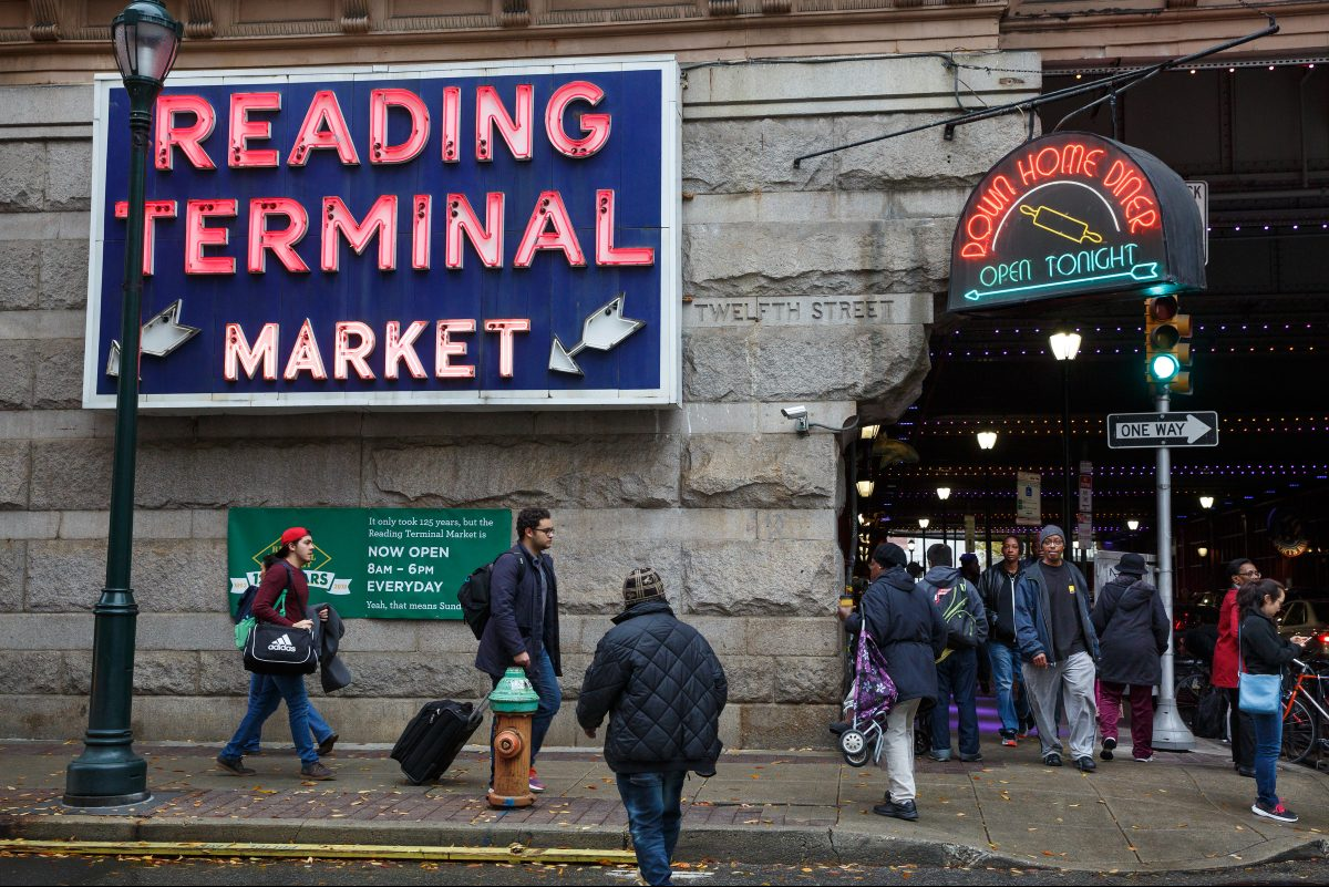 A busy day at Reading Terminal Market.
