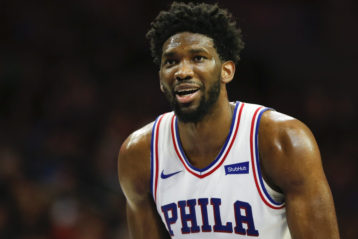 Sixers center Joel Embiid against the Los Angeles Clippers on Saturday, February 10, 2018 in Philadelphia.