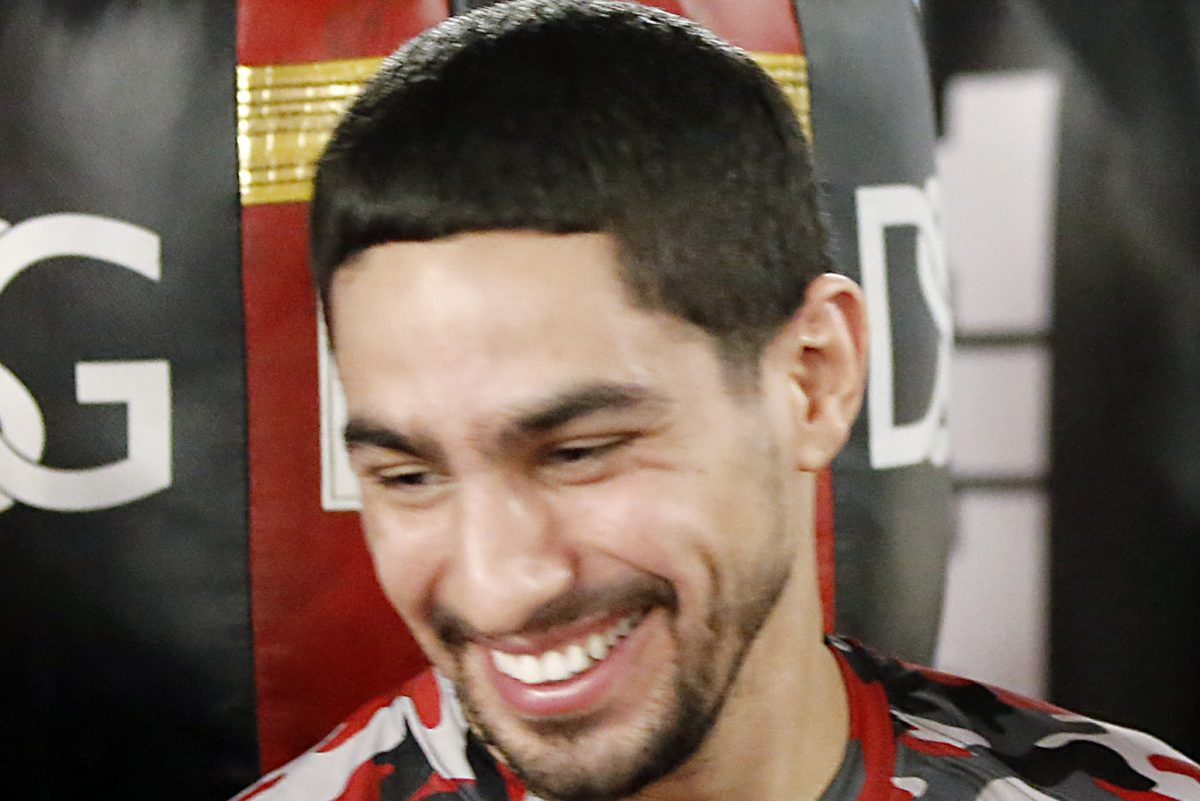 Danny Garcia won with a 9th-round knockout.
