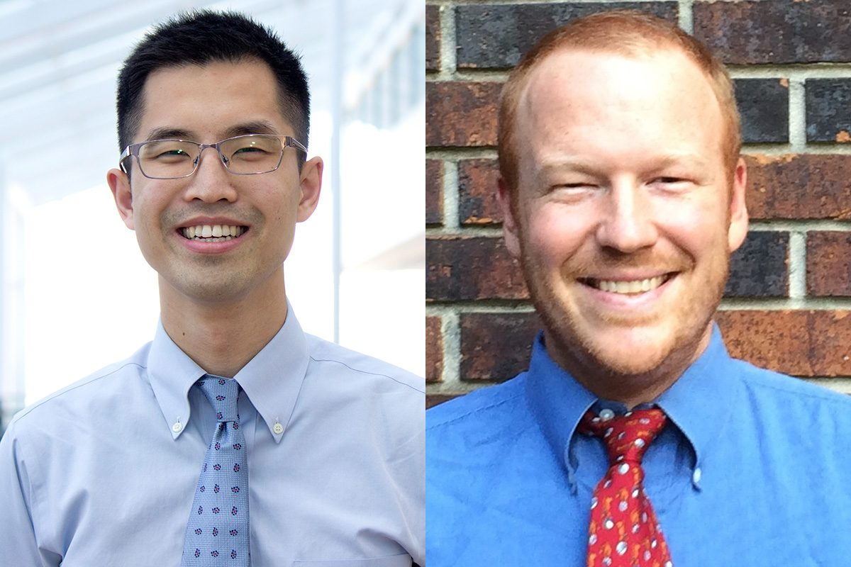 Jason Han (left) is a resident in cardiothoracic surgery at the University of Pennsylvania in Philadelphia and Jack DePaolo (right) is a pediatrics resident.
