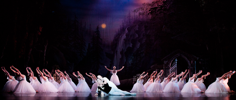"Pennsylvania Ballet dancers in ""Giselle."""