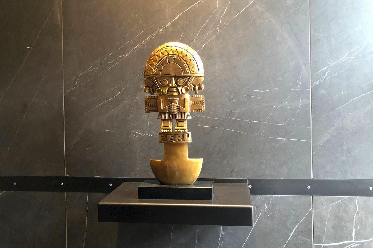 A decorative feature at Vista Peru, 20 S. Second St., on Feb. 19, 2018.