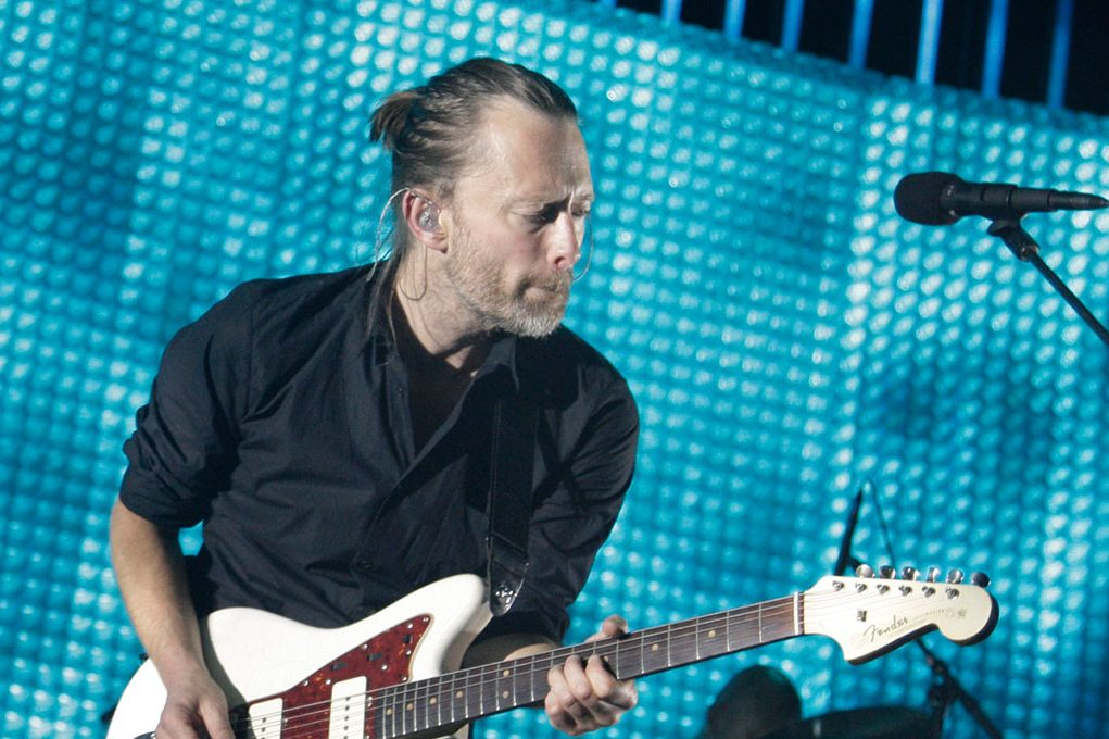 Thom Yorke of Radiohead performs at the Susquehanna Bank Center in Camden on June 13, 2012.