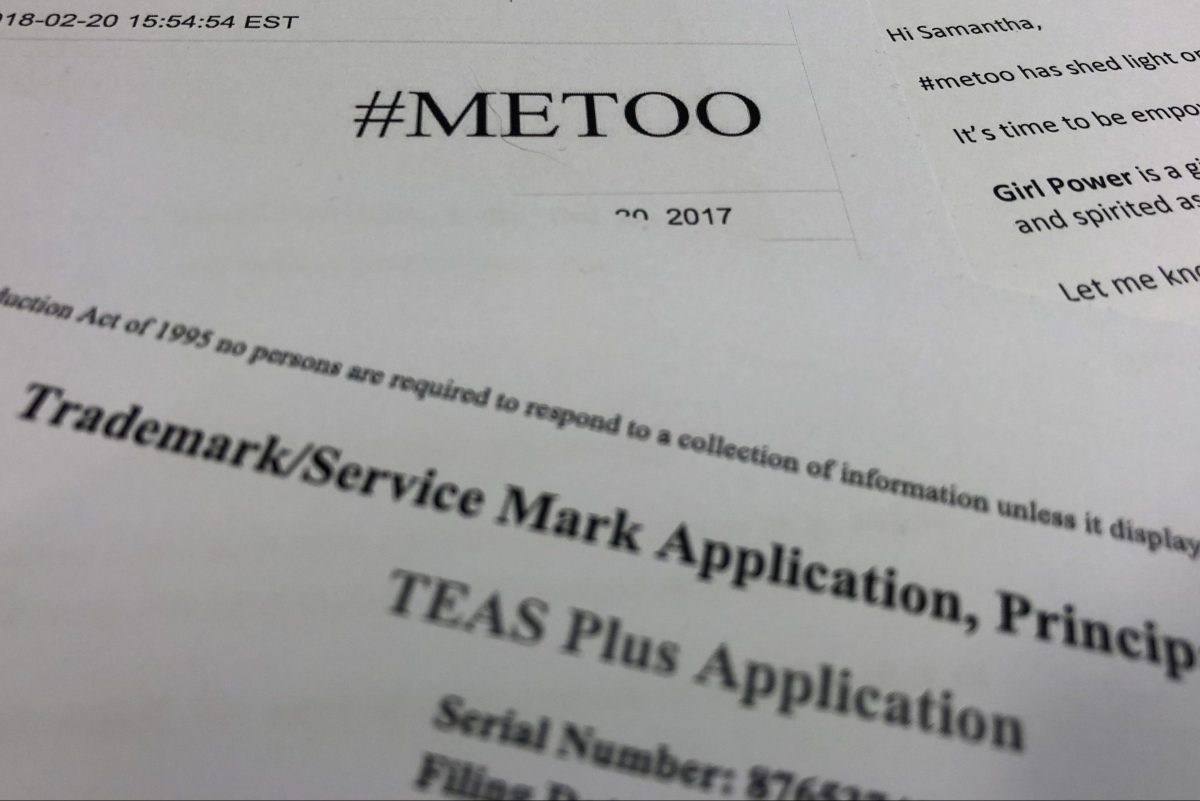 Some brands using #MeToo to market have gone as far as applying for trademarks and issuing press releases, whether their brand is related to sexual harassment or not.