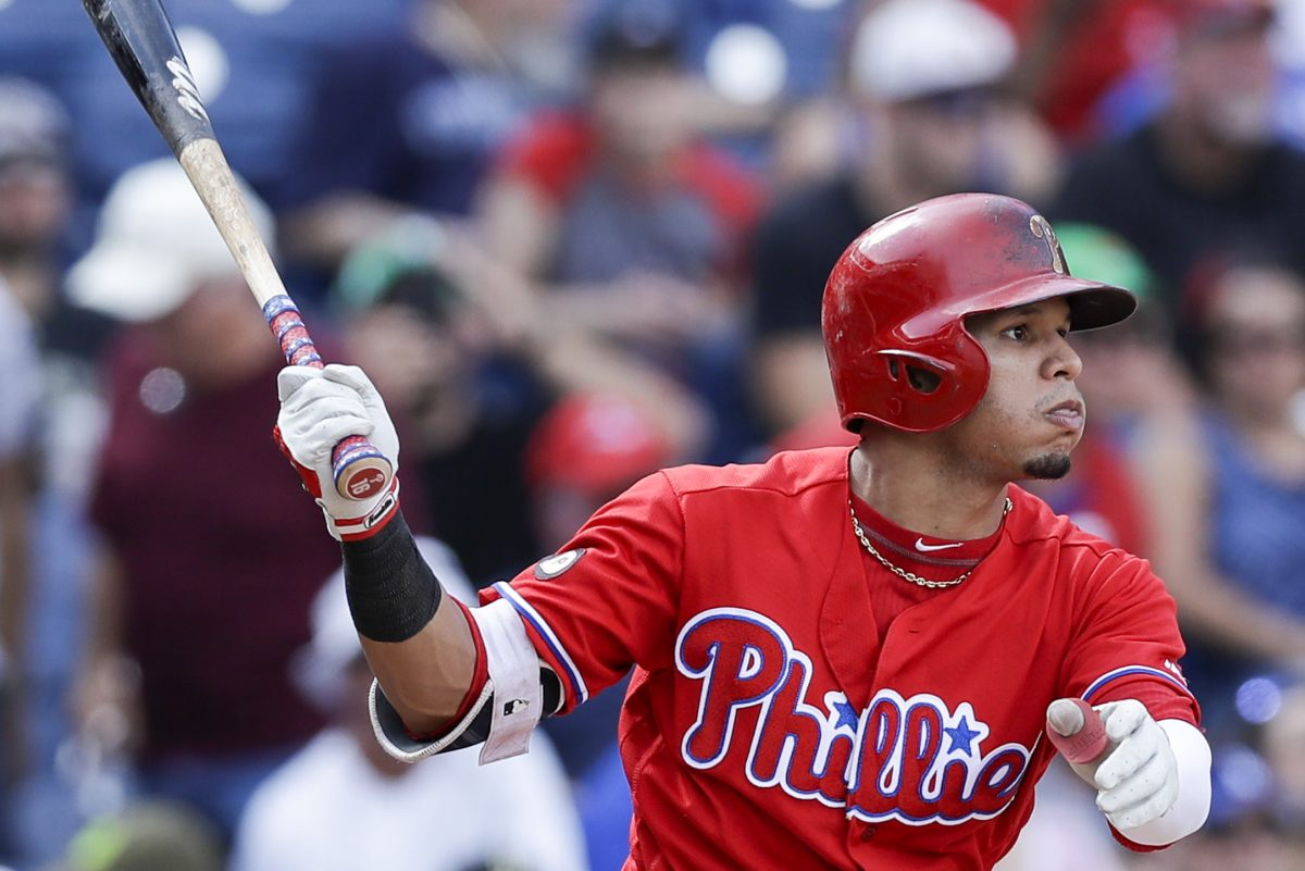 Phillies second baseman Cesar Hernandez could end up on the trade block if top prospect Scott Kingery continues his rise through the minor leagues.
