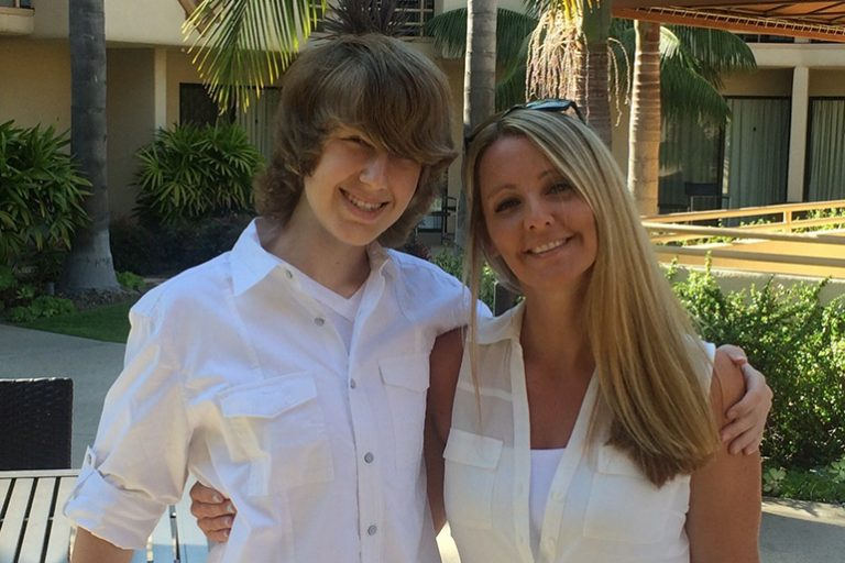 Tawny Biggs with her son, Cole Umland