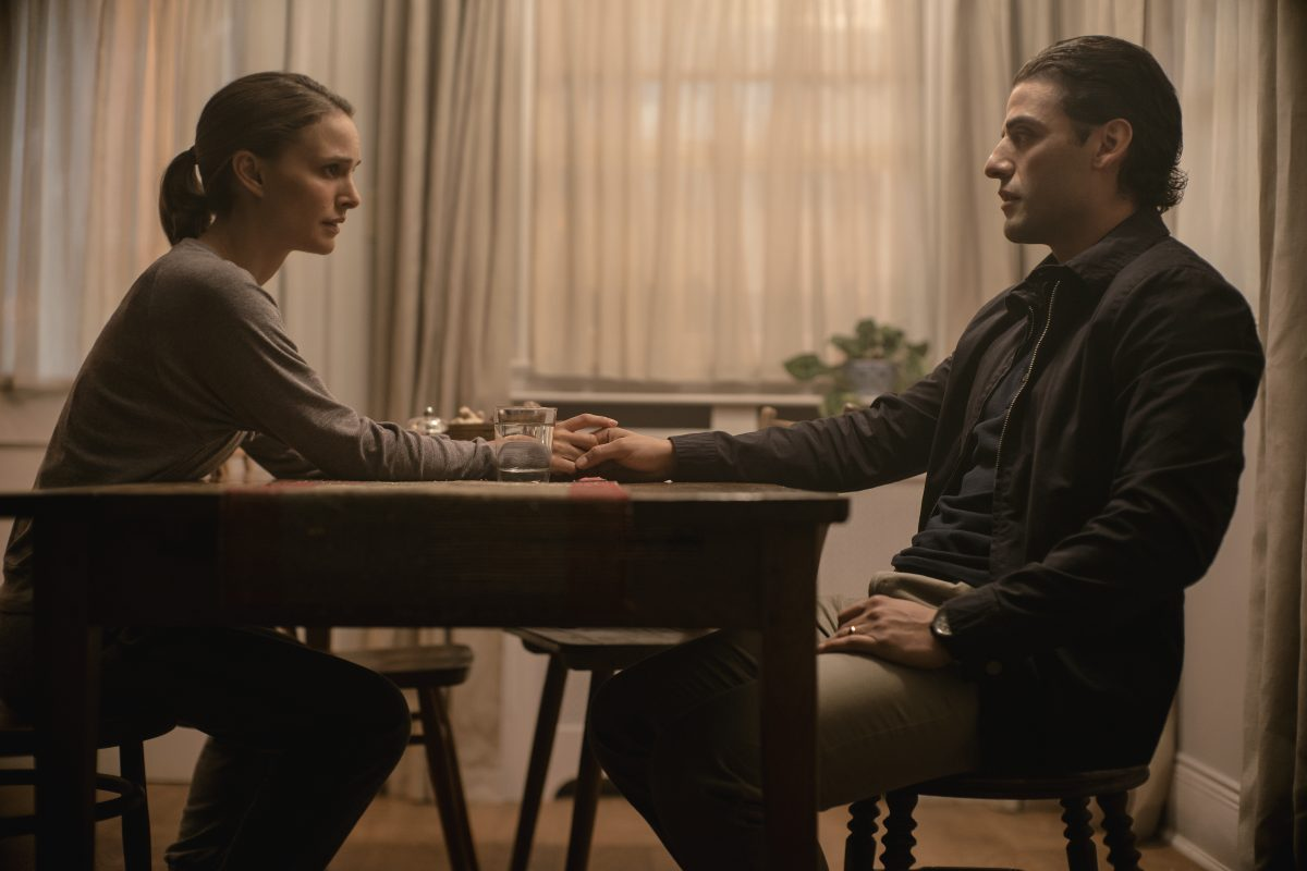 "Natalie Portman and Oscar Isaac in ""Annihilation."""