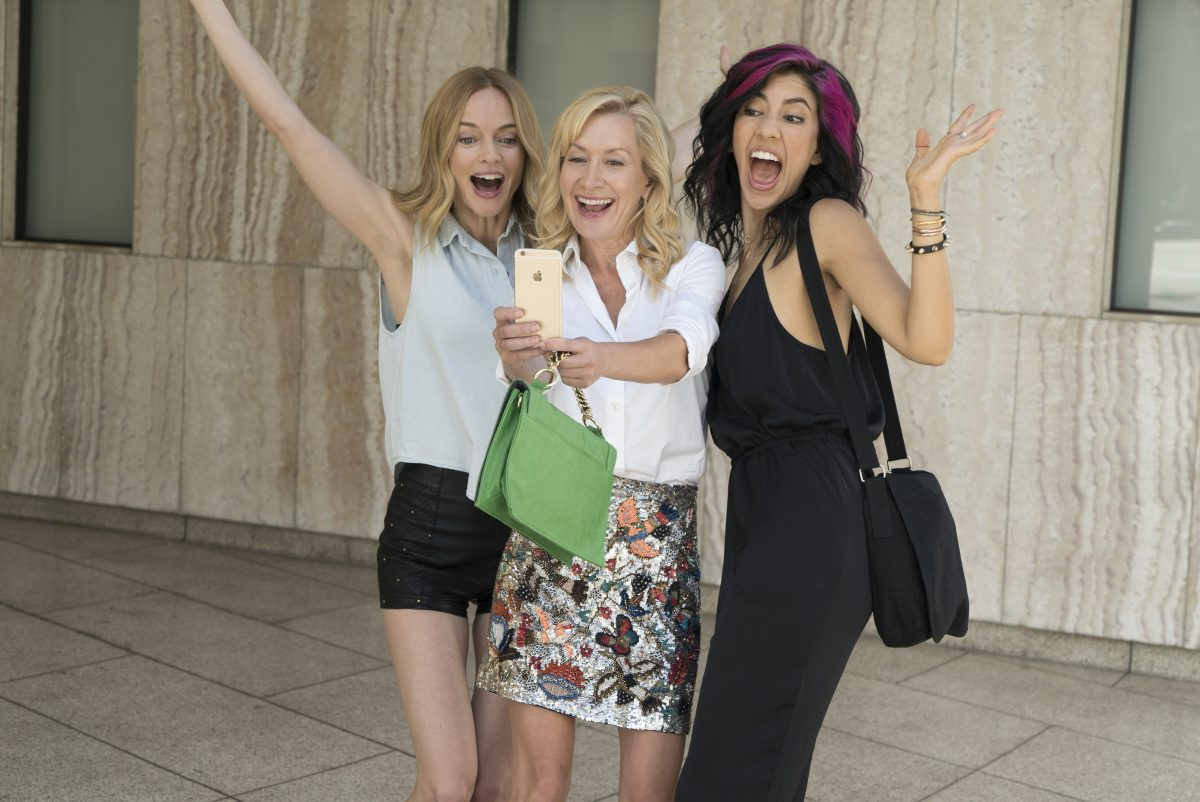 "Heather Graham, Angela Kinsey, and Stephanie Beatriz in ""Half Magic."""