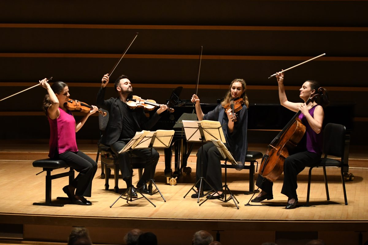 Elias String Quartet and Jonathan Biss: Happiness on a high plane