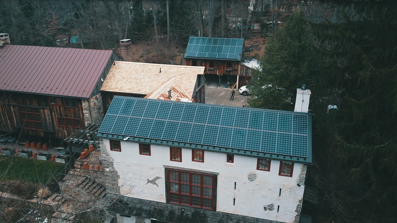 Solar States installed these solar panels in Lower Merion Township, Montgomery County.