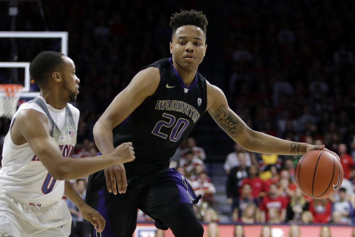 Washington guard Markelle Fultz (20) during a game against Arizona in January.