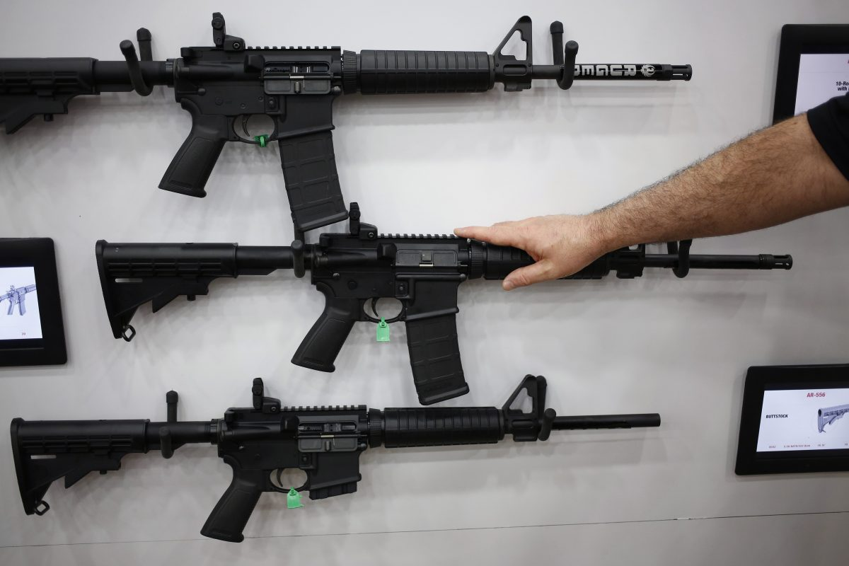 AR-15 rifles and their cousins are among the nation´s most popular and profitable weapons. The AR-15 fires one bullet with each pull of the trigger – thus, semiautomatic – but it is easily modified to shoot continuously until the trigger is released.