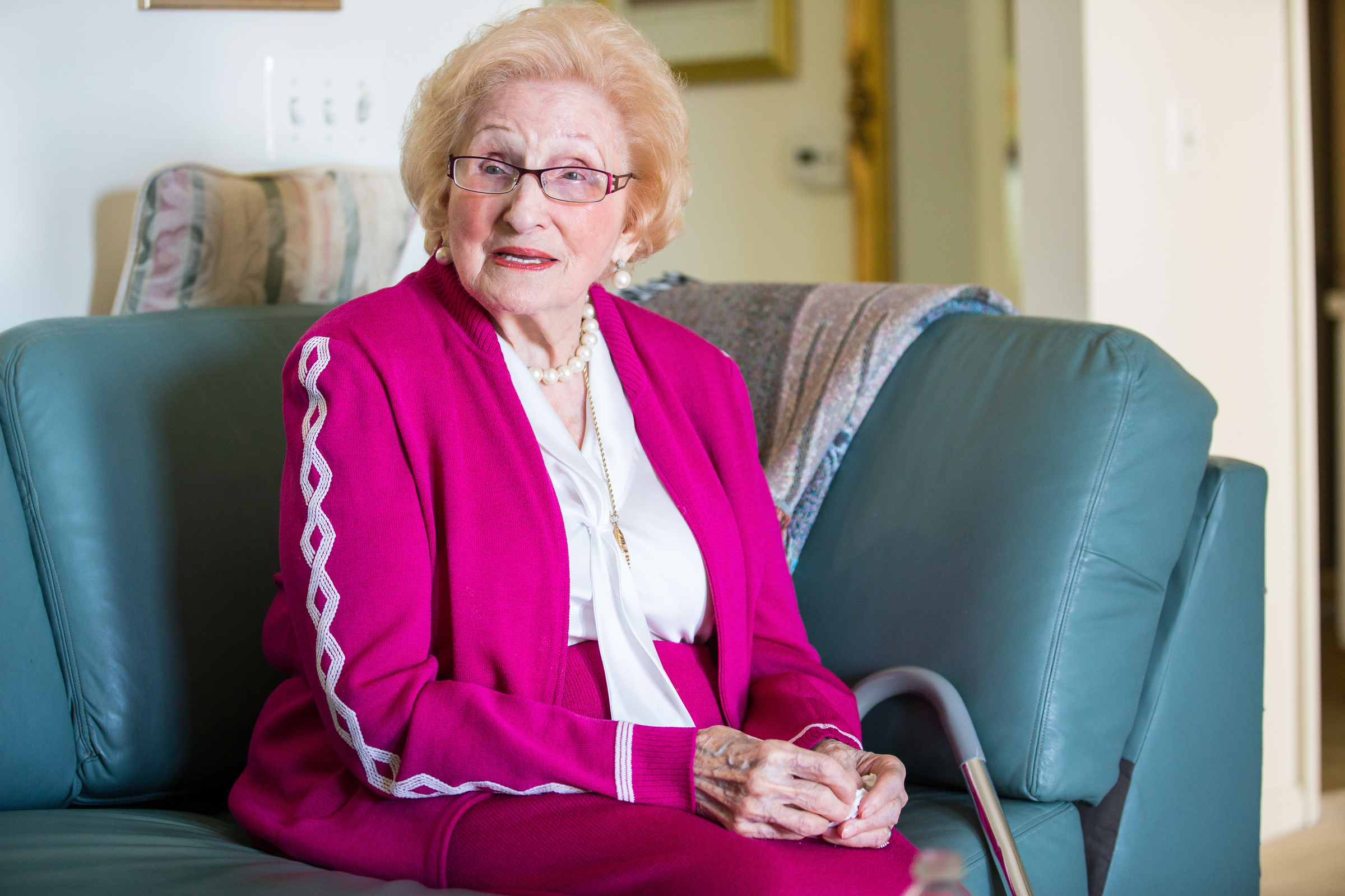 Charlote Weiss, 93, is one of five sisters who was in the Auschwitz concentration camp and survived. She emigrated to the United States in 1949, moved to Camden in 1960, and now lives in Voorhees.