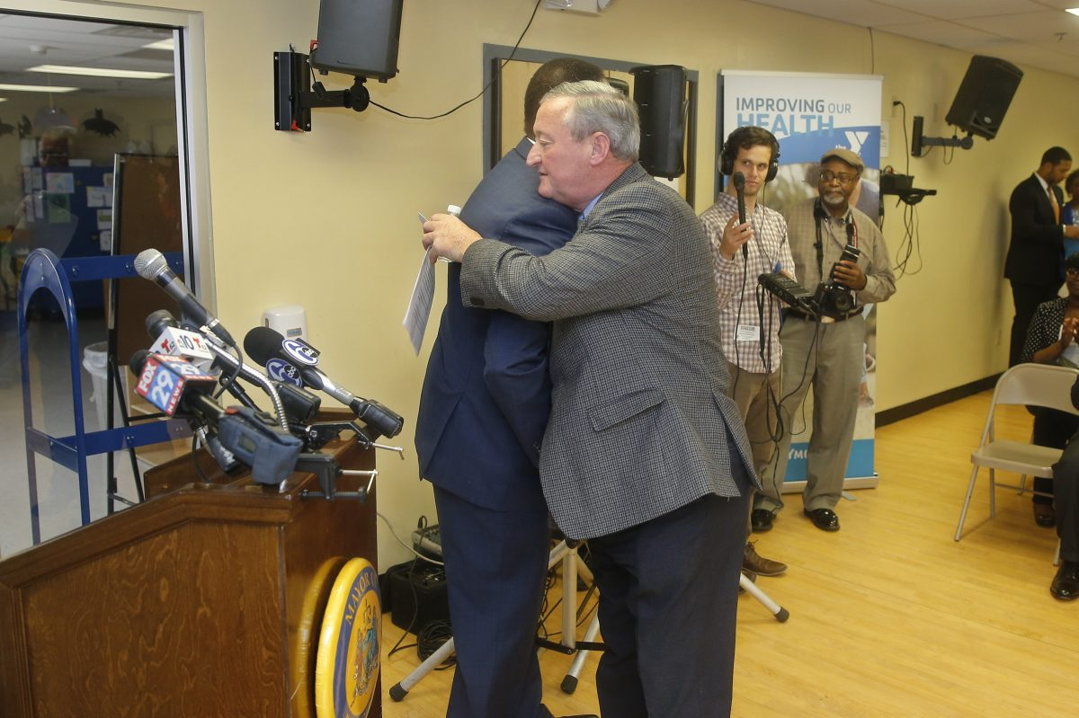 Mayor Kenney, right, and Council President Darrell Clarke haven't been in a hugging mood lately.