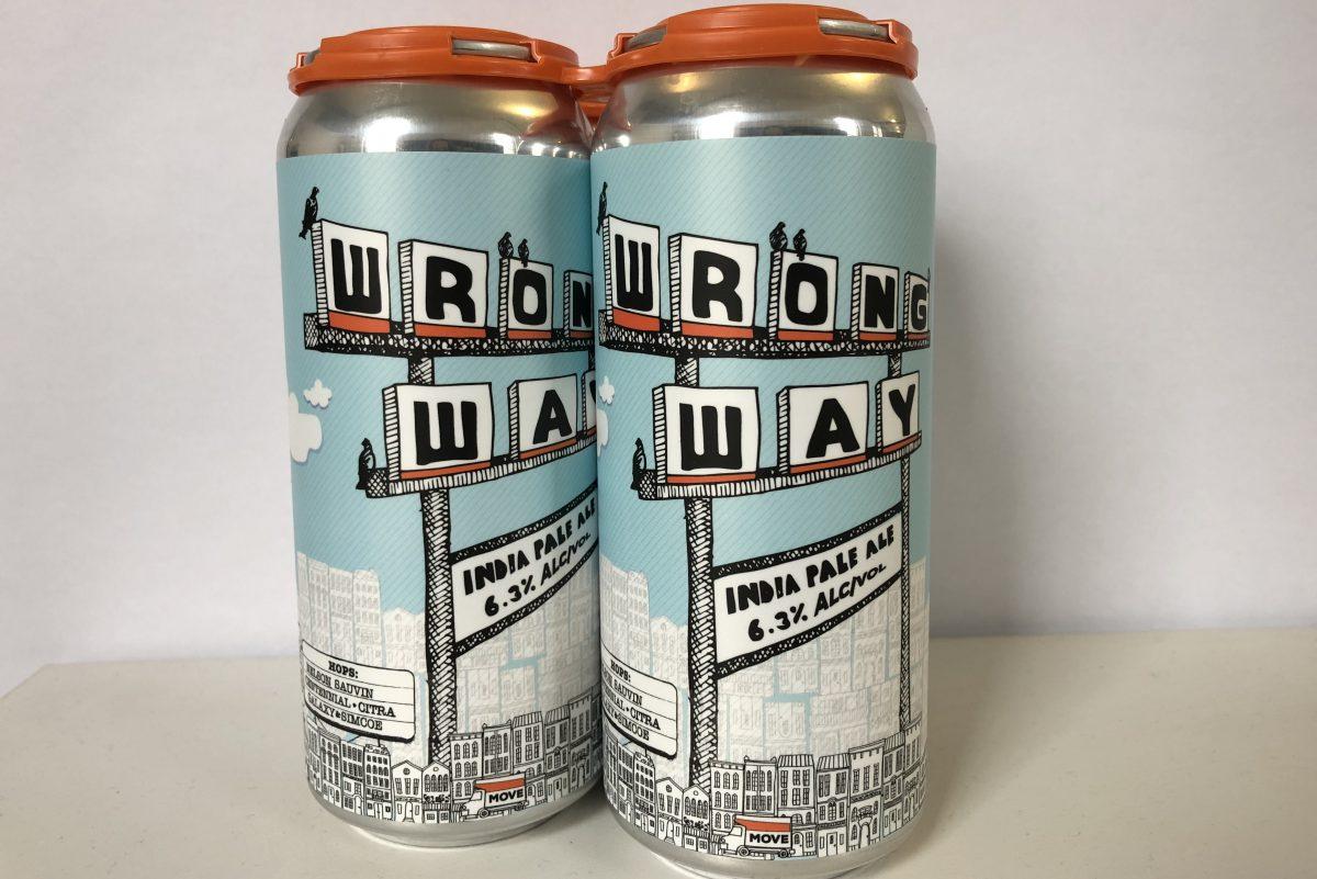 Wrong Way IPA from Urban Village Brewing Company.