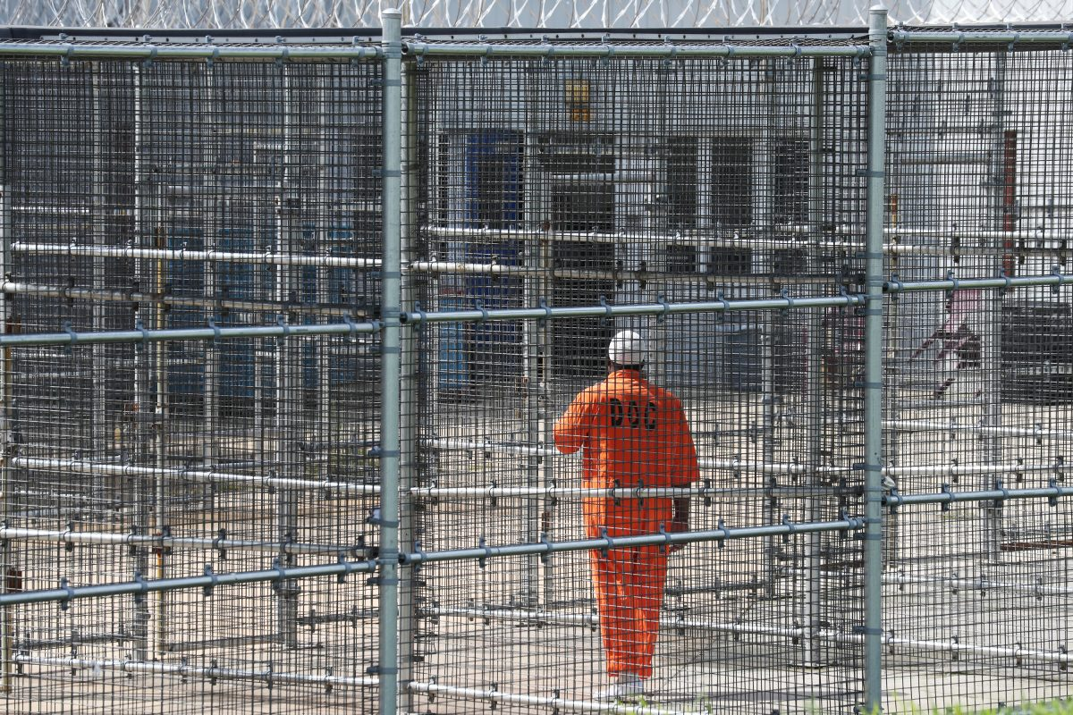 An inmate in a high security area at SCI Graterford.