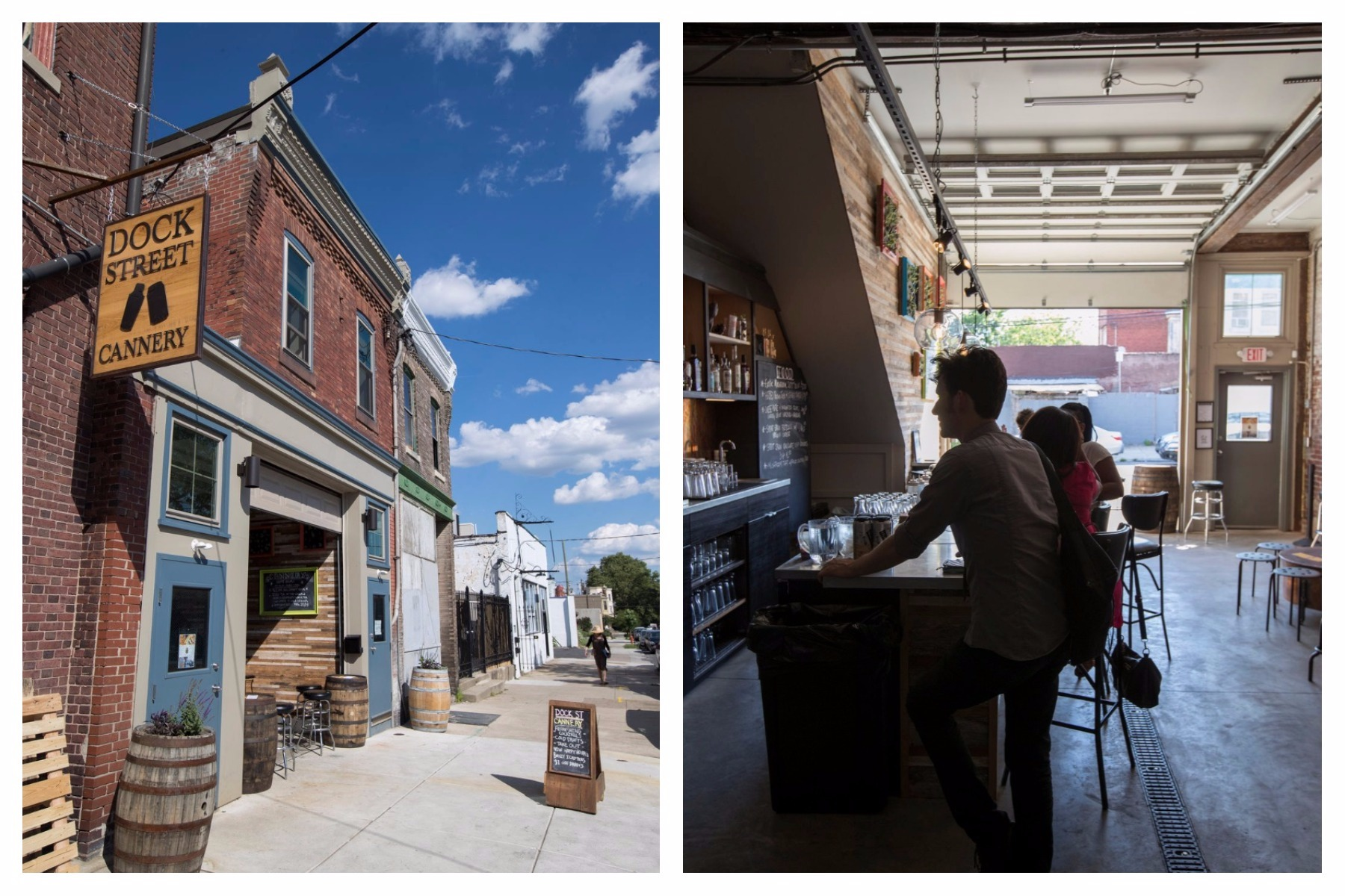 Exterior and interior views of Dock Street Cannery