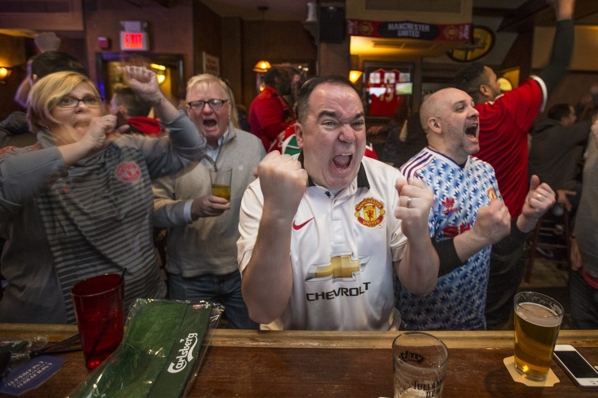 Beer for breakfast? It's standard at Black Sheep, the bar for Philly's Manchester United fans