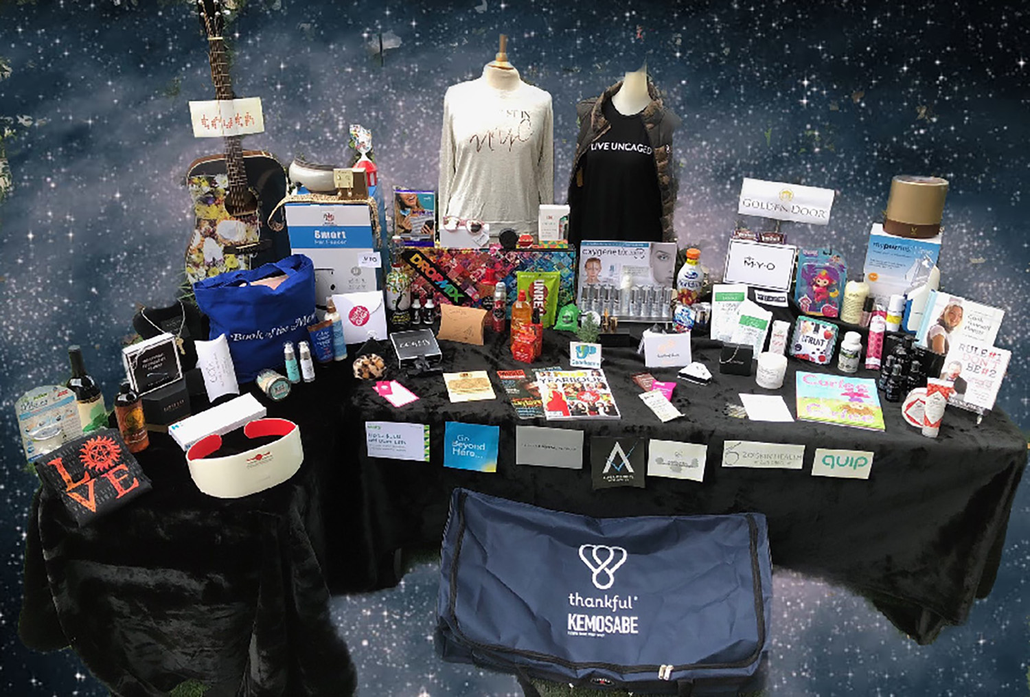 Gift bag items by Rachael Honowitz Cosgrove for this year´s 60th annual Grammy Awards. (Image extracted from PDF of original PowerPoint file)