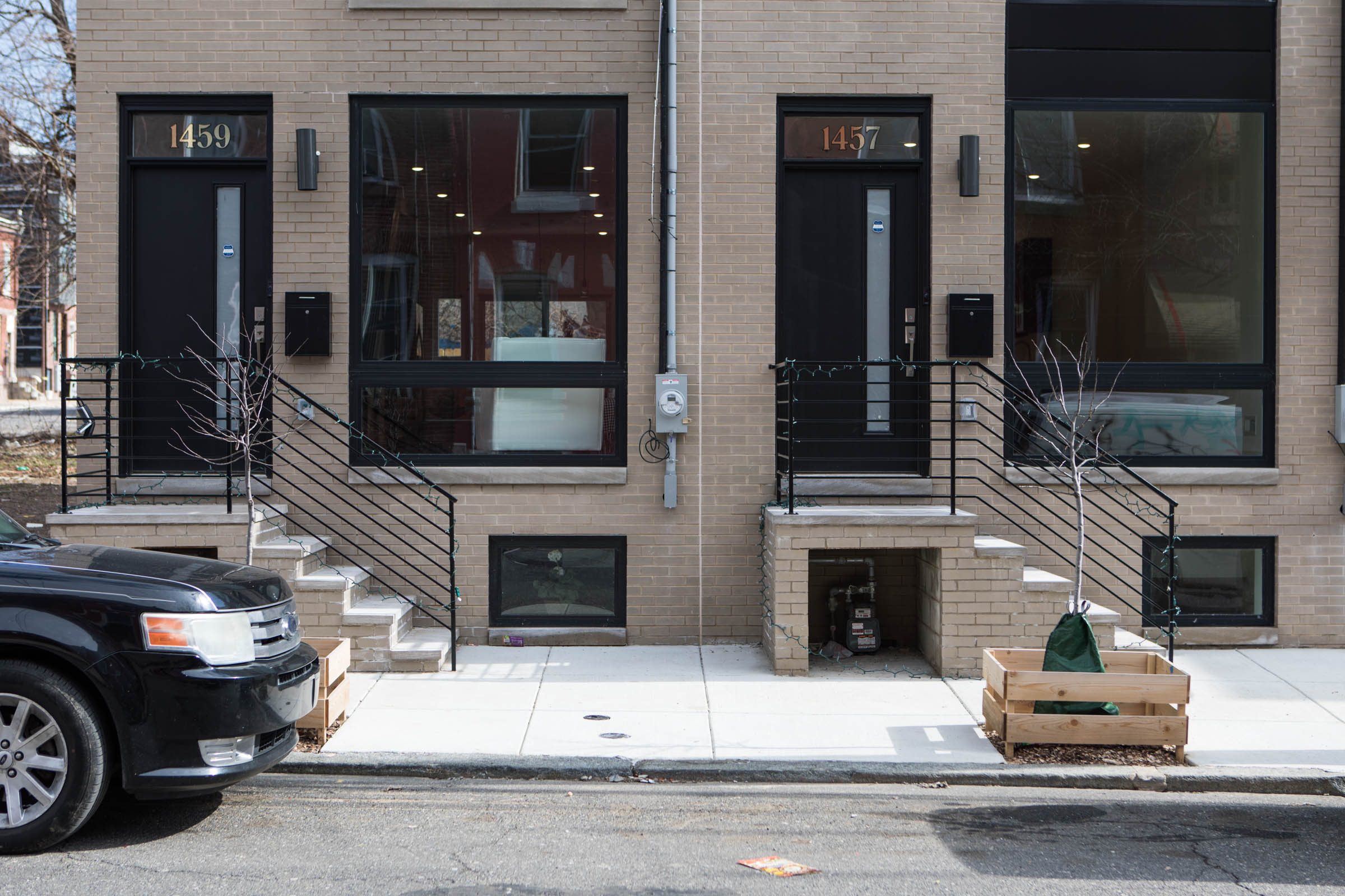 In Brewerytown, the 1400 block of N. 28th Street is the new site of the Brewers Mill townhome complex, a new construction project. The townhouses start at $425,000, according to the development´s website.