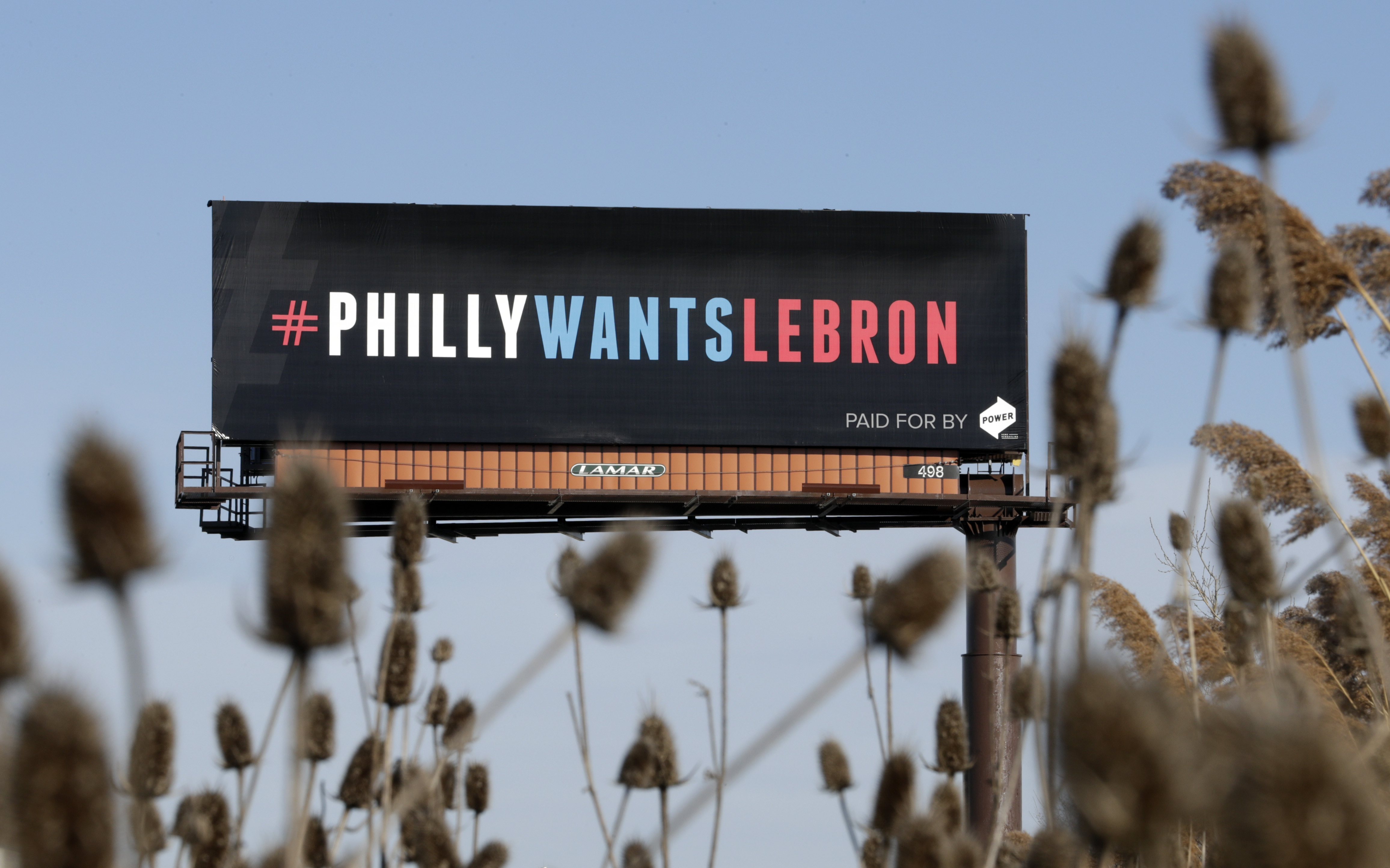 One of three billboards in the Cleveland area trying to entice LeBron James to come to Philadelphia.