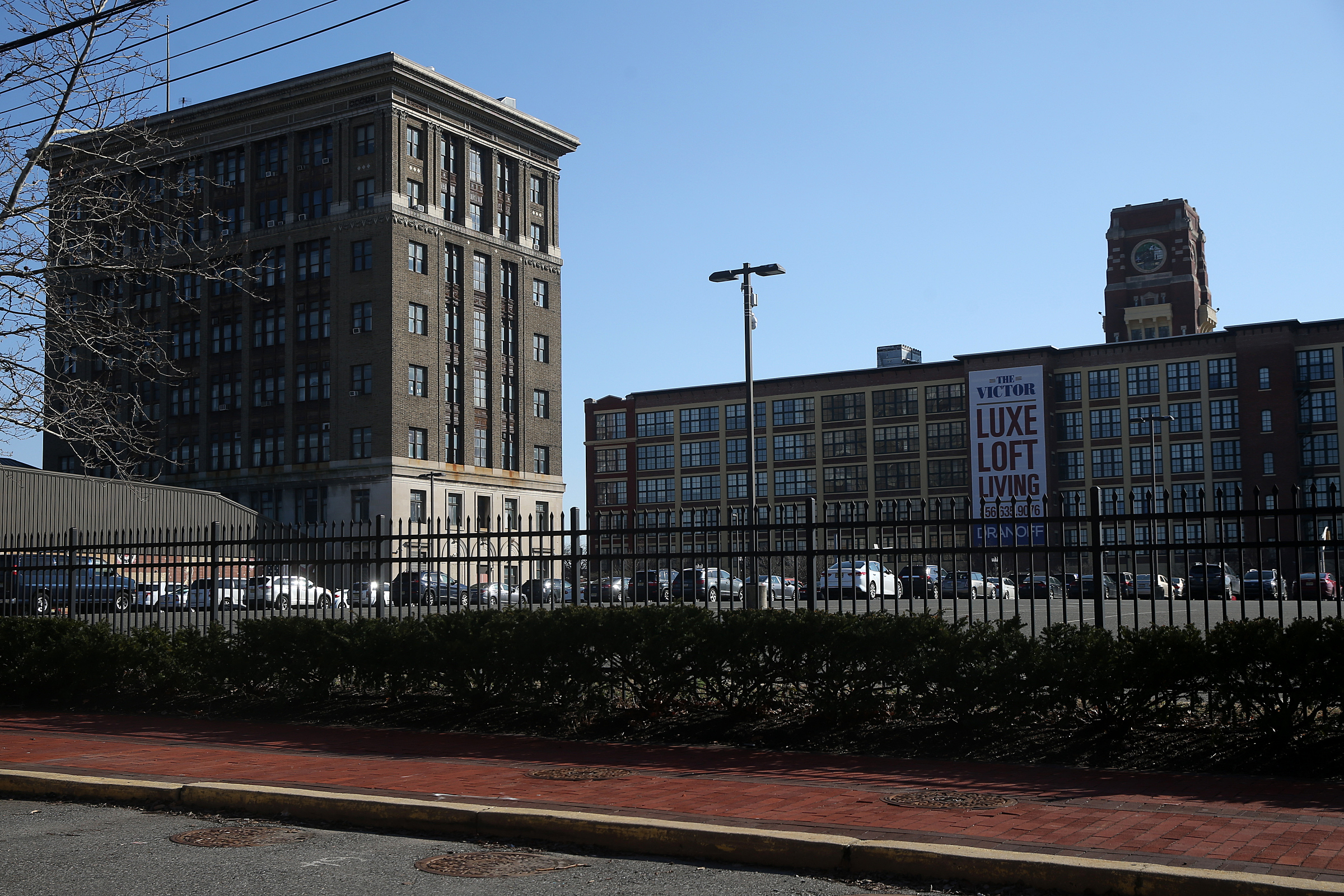 The Camden City School District headquarters, left, formerly an RCA building, is pictured in Camden on Tuesday, Feb. 27, 2018. TIM TAI / Staff Photographer