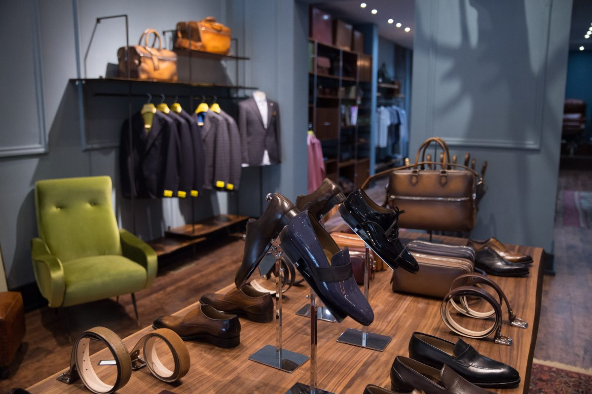 ToBox, a high-end mens footwear and apparel store on 18th and Chestnut streets. Staff Photographer