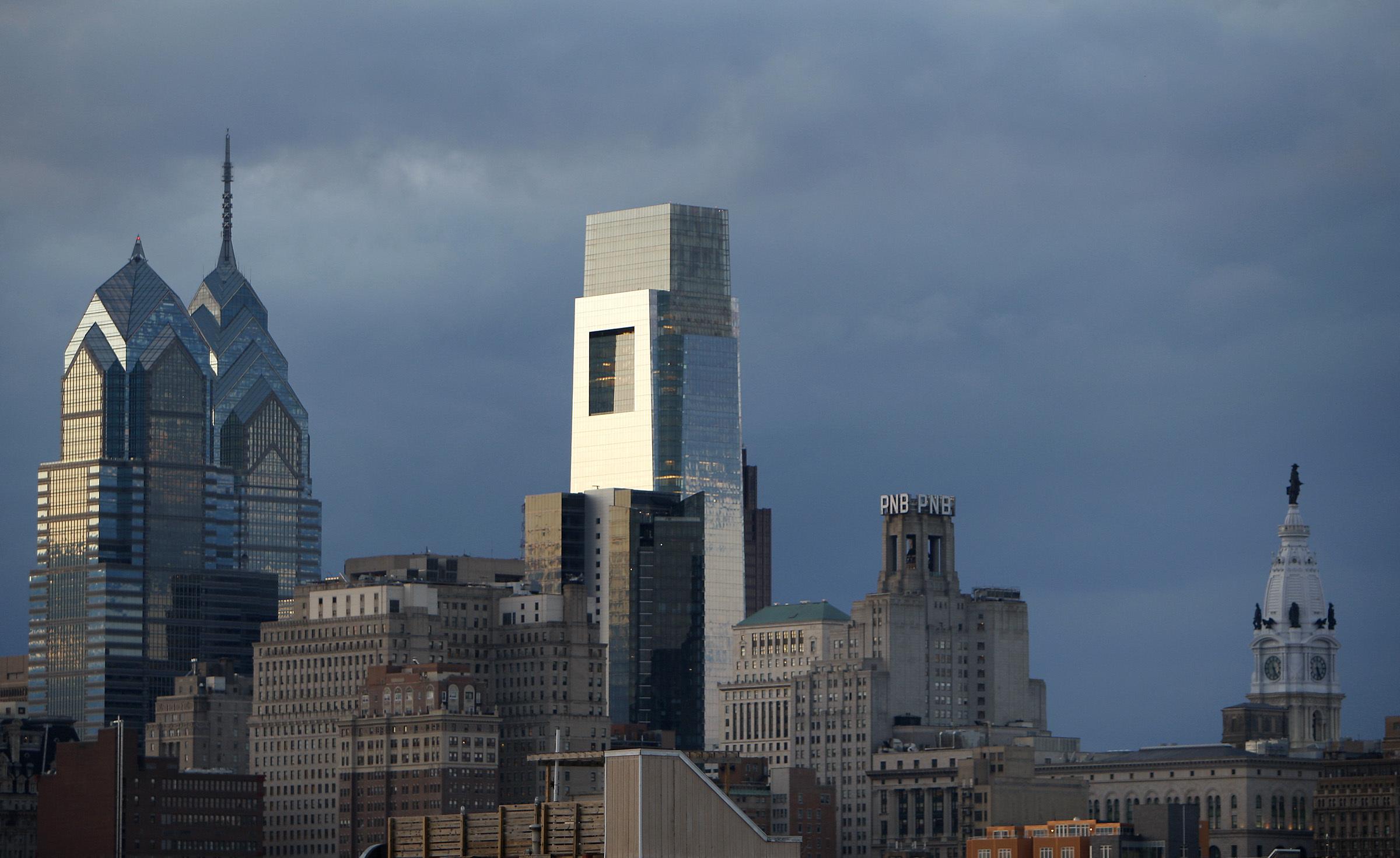 Philadelphia skyline on February 14, 2011 in Philadelphia.