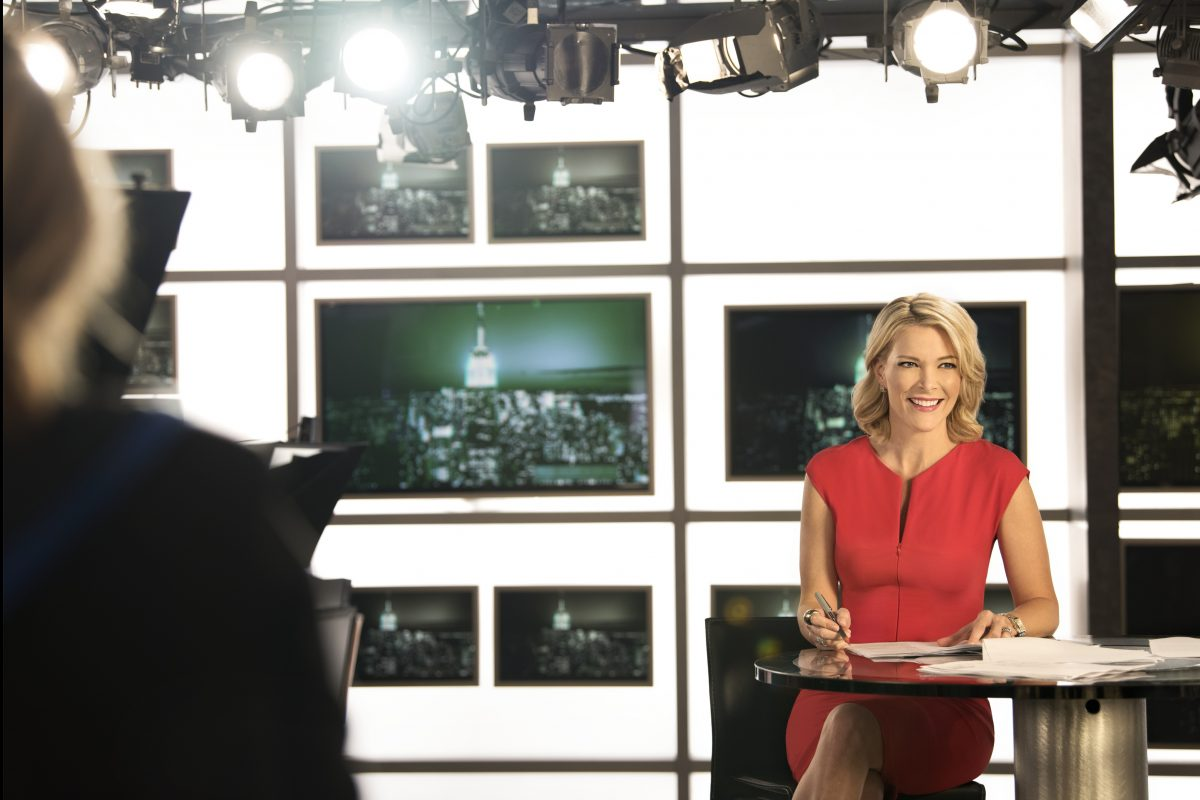 "Megyn Kelly on the set of her NBC News show, ""Sunday Night"""