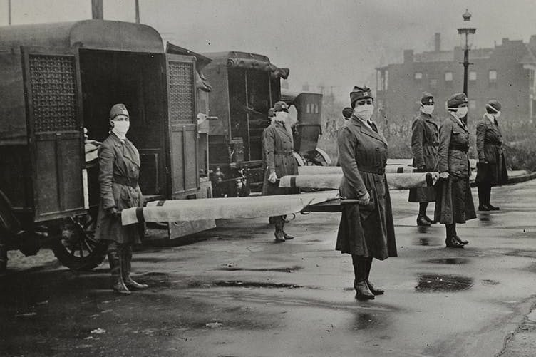 More women than men were left standing after the war and pandemic. Library of Congress,