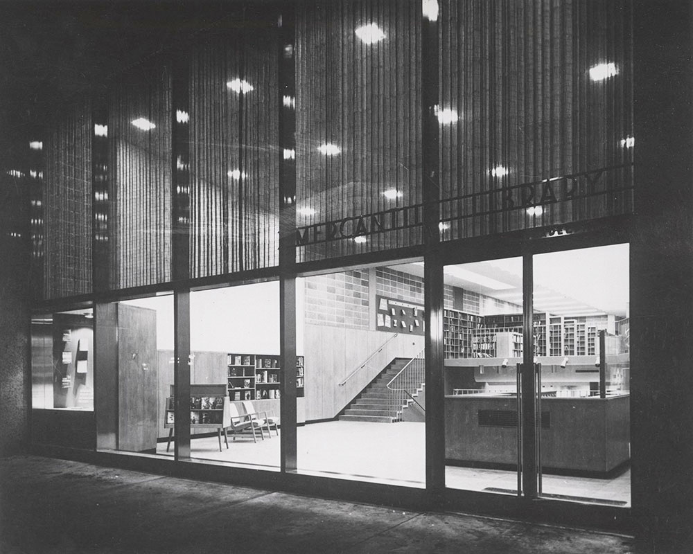 When the Mercantile Library opened on Chestnut Street in 1953, its welcoming, transparent facade was hailed as a groundbreaking modernist design.
