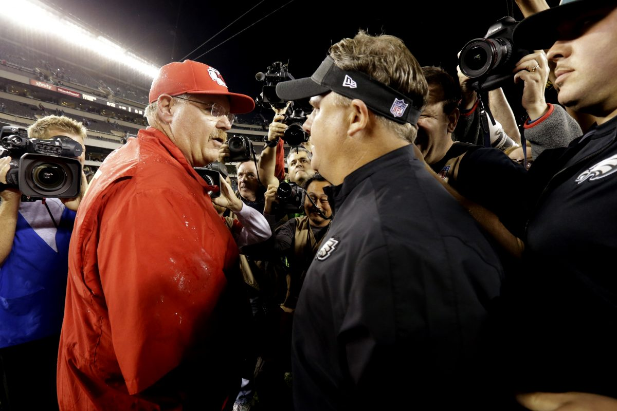 Andy Reid, Chip Kelly say it was fun watching Eagles win Super Bowl without them