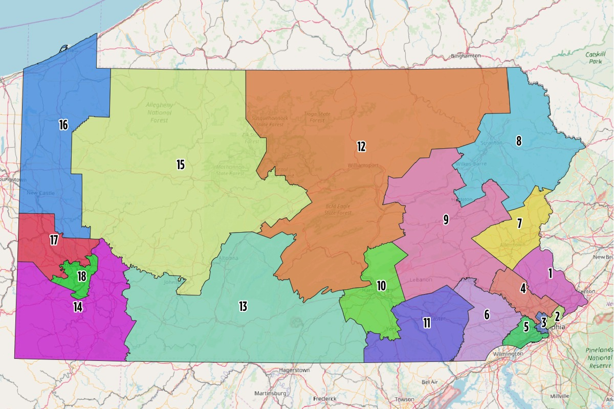 Supreme Court Blocking Congressional Map Is A Legal Long Shot - Pa map