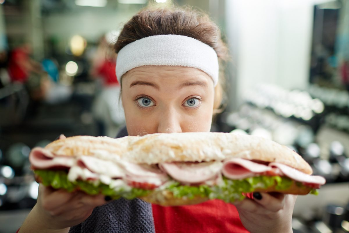 Consider the dangerous habit you're encouraging: Not only does it undo fitness progress, it also trains you to view food as a reward, instead of a source of energy.