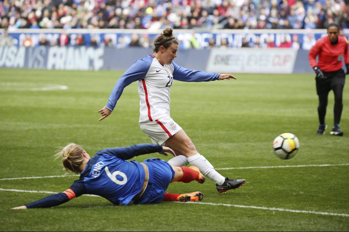 U.S. women's soccer team ties France, 1-1, in SheBelieves Cup