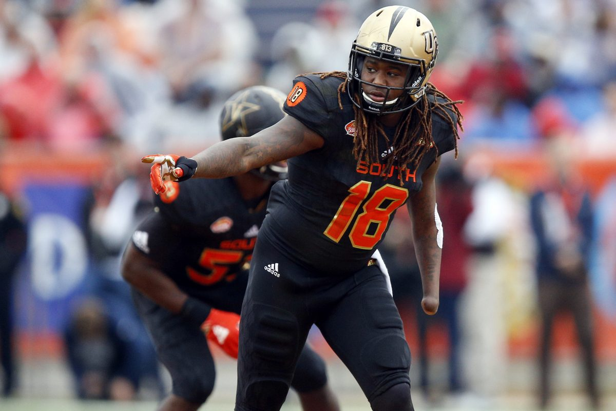Shaquem Griffin, the one-handed linebacker, turns heads running a 4.38 40-yard dash at the NFL scouting combine