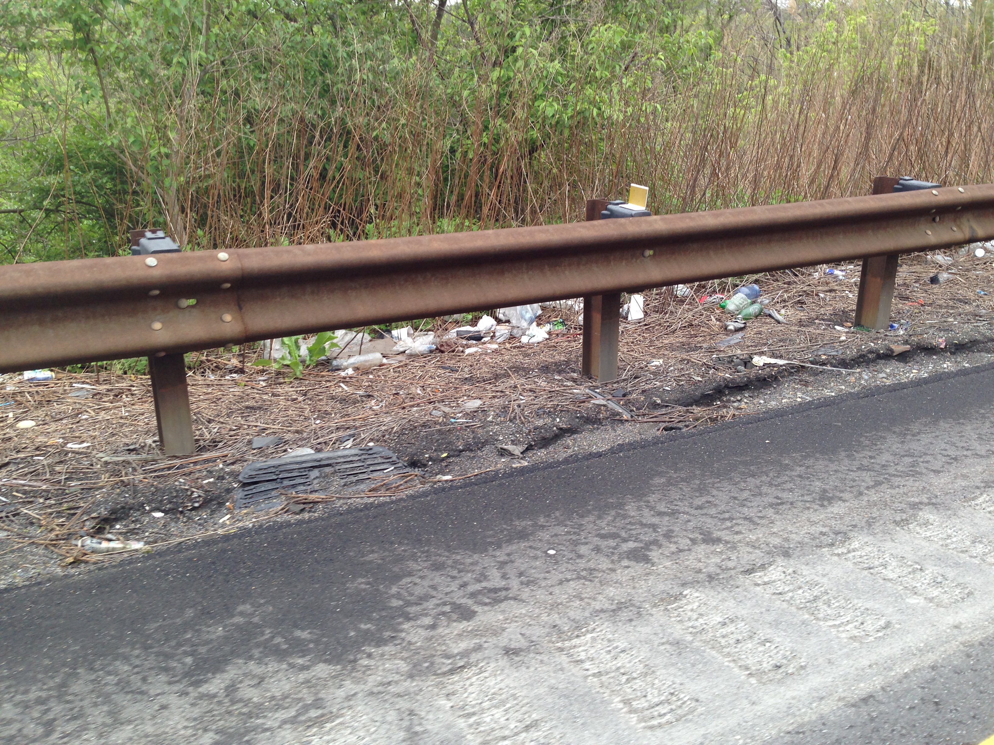Just another day: Litter along a ramp connecting I-95 north to I-476 north.